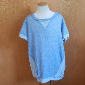 Easel Short Sleeve Shirt Blue Inside Out Style S